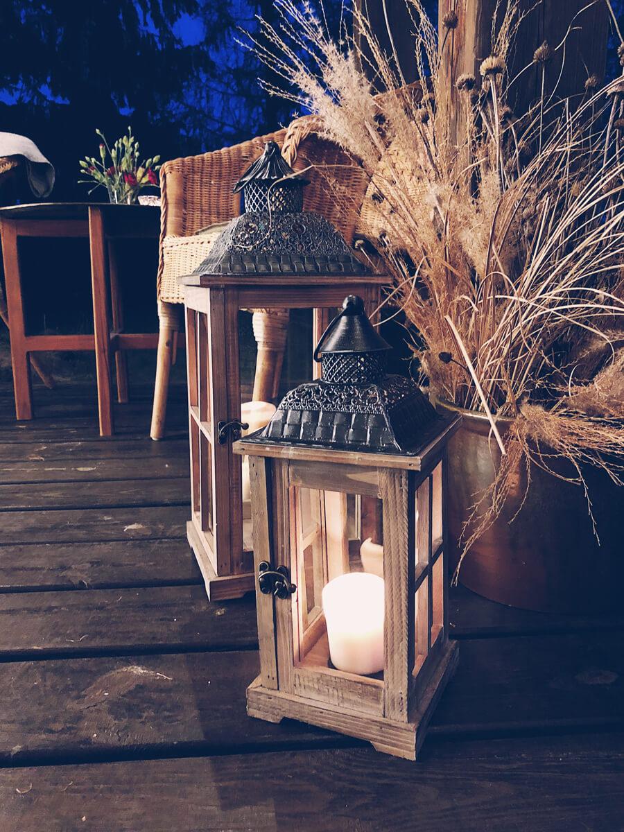 Rustykalne latarenki na wynajem